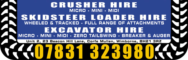 Excavator hire Site Clearance Hampshire
